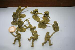 AIRFIX PLASTIC Desert Rat Soldiers 1:32nd Scale  x 10pc Unpainted