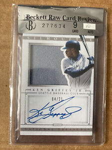 2014 Panini National Treasures Silhouette Auto #49 Ken Griffey Jr. 04/25 BGS 9
