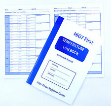 Fridge Freezer Temperature Log Record Hygiene Book 6 month Kitchen Thermometer
