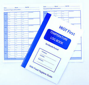 Fridge Freezer Temperature Log Book 6 month Record Food Hygiene Guide Catering