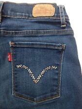 Levis Levi's 512 Womens Jeans 8M Perfectly Slimming Boot Cut 26x32 Studded Pocke