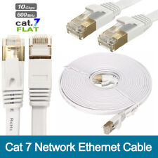 15m Cat 7 Network Ethernet Cable High Speed 10Gbps Flat Cat7 RJ-45 Patch Lead