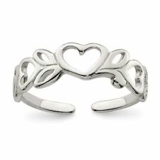 silver 925 toe ring Leaf & Heart design adjustable toe ring