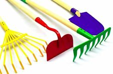 G F Products JustForKids Kids Garden Tool Set Toy, Rake, Spade, Hoe and Leaf