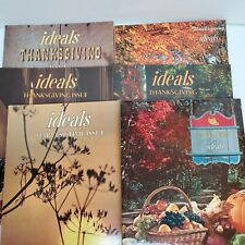 6 Ideals Magazine Thanksgiving & Harvest Time Issues Magazines Vintage 70s Lot