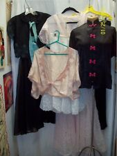 Vintage 1930's 1940's Lot of 5 Lingerie Night Gown Petitcoat Peignoir Robe S/M