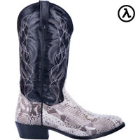 DAN POST MANNING WESTERN NATURAL PYTHON COWBOY BOOTS DP3036 * ALL SIZES - NEW