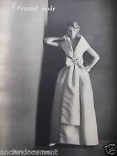 PUBLICITÉ 1959 ROBE ROMANTIQUE GRAND SOIR DE RICCI - ADVERTISING