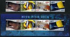 Niue 2014 Fische Fishes Poissons Pesci Meerestiere 1220-23 Block 173 MNH