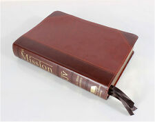 The Mission Color Study Bible KJV with E G White comments Two Tone Brown NEW