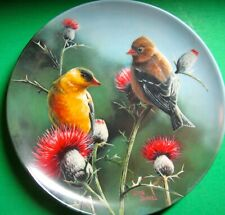 #8 Goldfinch Birds Of Your Garden Collection Kevin Daniel Knowles Plate
