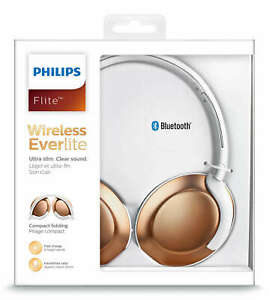 PHILIPS Bluetooth Headphones Mic Remote Gym Sports Wireless Noise Cancelling NEW