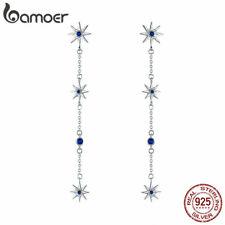 BAMOER Authentic 925 Sterling silver Women Stud Earring Shining mango&CZ Jewelry