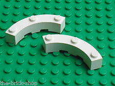 LEGO white brick round corner ref 48092 / set 21020 21006 10211 41085 21004 7894
