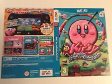 Nintendo Wii U Kirby And The Rainbow Paintbrush Cover Only Sleeve Inlay Promo