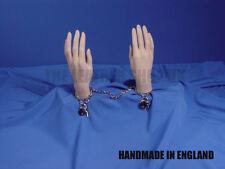 Nuevo, Hecho A Mano Cadena Metal Candado Esposas Fabricada En Inglaterra