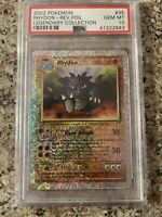 2002 Pokemon Rhydon Rev. Foil Legendary Collection Gem Mint Psa 10 POP 30