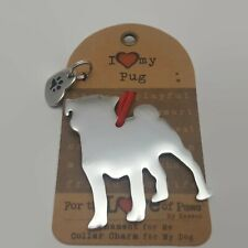 Enesco For the Love of Dogs I Love my PUG Ornament & Collar Charm