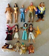 Vintage Disney Mattel Figure lot, 1992, Aladdin, Beast, Pocahontas, Tarzan ++++