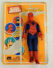 """D053. SPIDER-MAN 8"""" MEGO LOOSE FIGURE WITH CARD (1972-79)"""