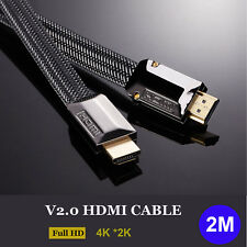 6ft / 2m HDMI Cable V2.0 High Speed 2160P 4K 3D for UHD Bluray PS4 LED HDTV HDR
