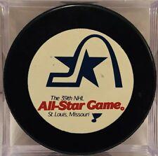 St. Louis Blues 39th 1988 NHL ALL-STAR Game PUCK Mario Lemieux MVP Patrick Roy