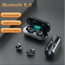 Auriculares Inalámbricos Bluetooth con Micrófono, Impermeable + Caja de Carga