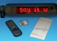 ELECTRONIC RED L.E.D. MOVING MESSAGE SIGN & REMOTE CONTROL FOR YOUR BUSINESS.