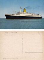 GERMAN CRUISE SHIP TS BREMEN NORTH GERMAN LLOYD LINE UNUSED COLOUR POSTCARD