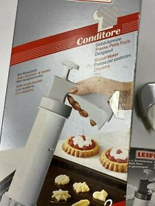 Vintage Leifheit Cookie Press Gun Germany Biscuit Maker Made in Italy w Box