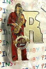 "Hard Rock Cafe Washington D.C. Musicians Series Saxophonist Letter ""R"" Pin NEW"