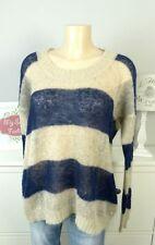 MARC O'POLO Pullover Strick Knit Oberteil Sweater Blau Beige Gr. XL 42 (DG41)
