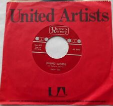 """KATHY DEE Unkind Words / Only As Far As The Door Ex to NM- CANADA 1964 UA 45 7"""""""