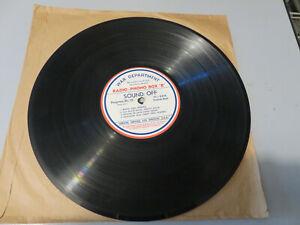 "78 GIRI DISCO WAR DEPARTMENT SPECIAL SERVICE U.S.A. RADIO - PHONO BOX ""B"""