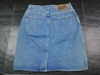 Vtg Calvin Klein Sport Denim Knee Length Pencil Blue Jean Skirt Size 14