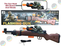 Army Military Gun Assault Guns/Rifle Flashing Lights & Sound vibration Kids Toy