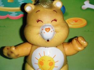 Care Bears Sunshine Bear PVC Figurine Adjustable Arms Legs Head Doll Toy Cake Tp