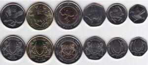 Botswana - set 6 coins 5 10 25 50 Thebe 1 2 Pula 2013 UNC Lemberg-Zp