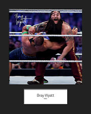 BRAY WYATT (WWE) Signed 10x8 Mounted Photo Print - FREE DELIVERY