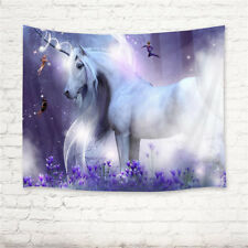 Fantasy Unicorn Wall Hanging Tapestry Bedspread Dorm Home Decor 80X60 Inches