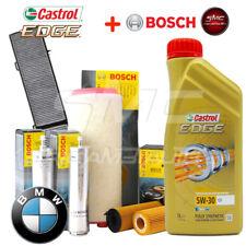 Kit tagliando olio CASTROL EDGE 5W30 6LT +4 FILTRI BOSCH BMW 118D E81 E87 105 kW