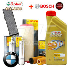 Kit tagliando BMW serie 1 e87 120d, 118d motore N47 BOSCH olio CASTROL edge 5w30