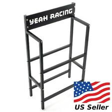 Yeah Racing RC Aluminum Tire Rack Black For 1/10 Tires YEA-YA-0407BK