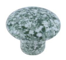 Set Of 8 Ceramic Cabinet Knobs Drawer Pulls Enamelware Granitware Green & White