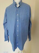 Mens Brooks Brothers Non Iron Shirt Blue Big Mens 17.5 Collar 56 Chest