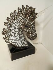 Tiffany Studio Style Three- Dimensional Stained Glass Unicorn Lamp.