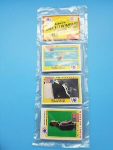 GREATEST OLYMPIANS OLYMPICS  CELLO RACK PACK - UNOPENED - MINT - 1983 - ERUZIONE