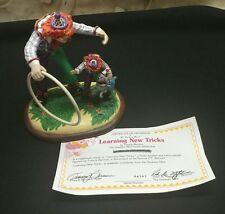 danbury mint barnum's classic clowns learning new tricks 1995 figurine