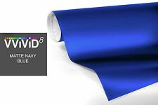 "1ft x 60"" Dark blue matte vinyl car wrap DIY sheet roll film satin sticker decal"