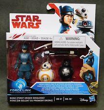 """Star Wars : TLJ - Rose & BB-8 & BB-9E  3.75"""" Action Figure Force Link"""
